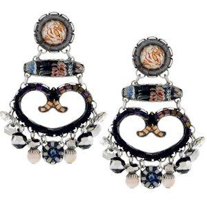 Ayala Bar Mixed Media Stunning Boho Earrings,NWT
